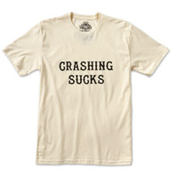 Roland Sands Design Men's Crashing Sucks Vintage White T-Shirt