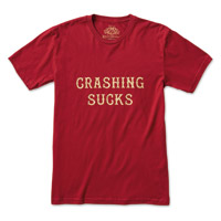 Roland Sands Design Men's Crashing Sucks Red T-Shirt