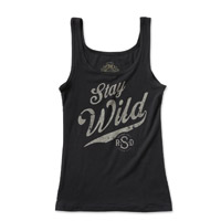 Roland Sands Design Women's Stay Wild Black Tank Top
