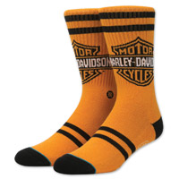 Stance Men's Harley-Davidson The Shield Orange Socks