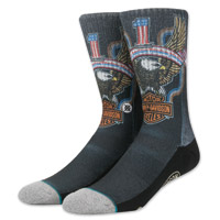 Stance Men's Harley-Davidson Freedom Machine Gray Socks