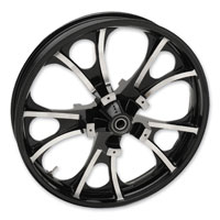 Coastal Moto                    Largo Cast Black Contrast Cut 21x3.5″ Front Wheel Non-ABS