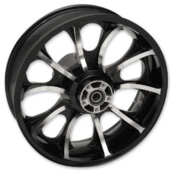 Coastal Moto Largo Cast Black Contrast Cut 18x5.5″ Rear Wheel Non-ABS