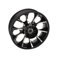 Coastal Moto Largo Cast Black Contrast Cut 18x5.5″ Rear Wheel ABS