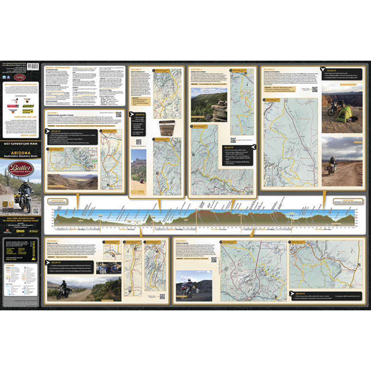Butler Maps Arizona Backcountry Discovery Routes Map
