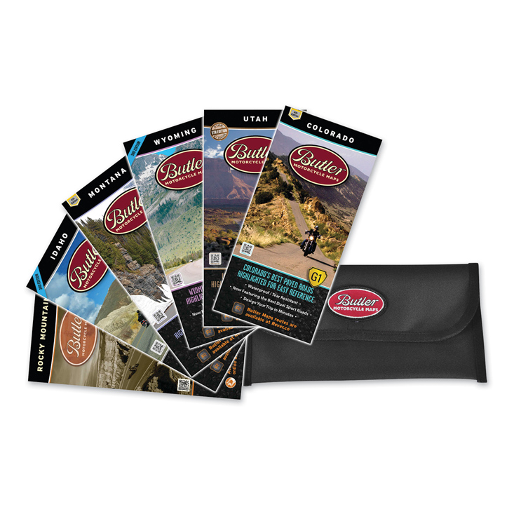 Butler Maps Rocky Mountain Collection Motorcycle Maps