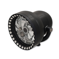 Ken′s Factory 4-1/2″ Neo-Fusion Black with Black Ring Headlight