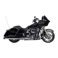 Two Brothers Racing Dual Chrome Muffler with Black Cap
