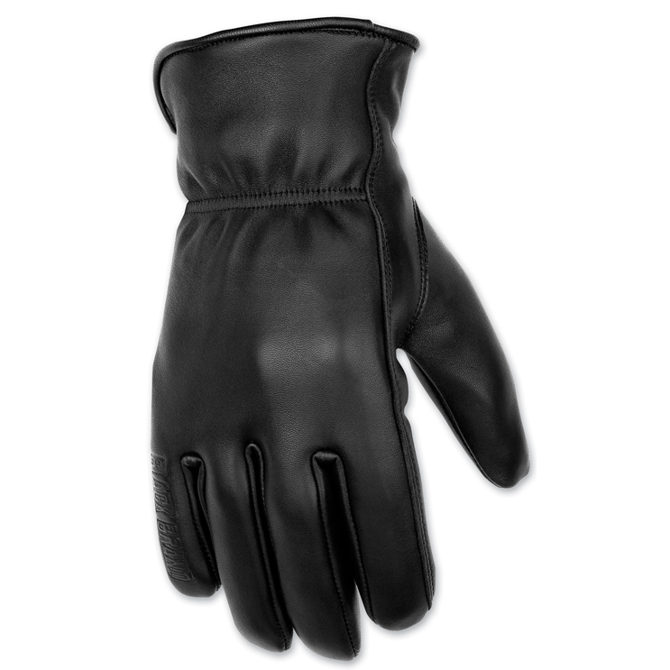 Black Brand Men's Regulator Black Leather Gloves