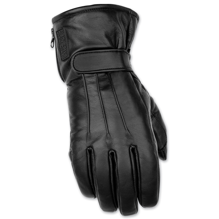 Black Brand Men's Hardcore Black Leather Gloves