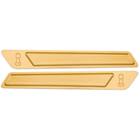 Rooke Gold Saddlebag Latch Insert