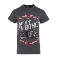 Sons of Arthritis Men's Achin' Bones Charcoal T-Shirt