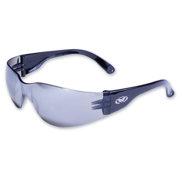Global Vision Eyewear Rider Sunglasses wtih Flash Mirror Lens