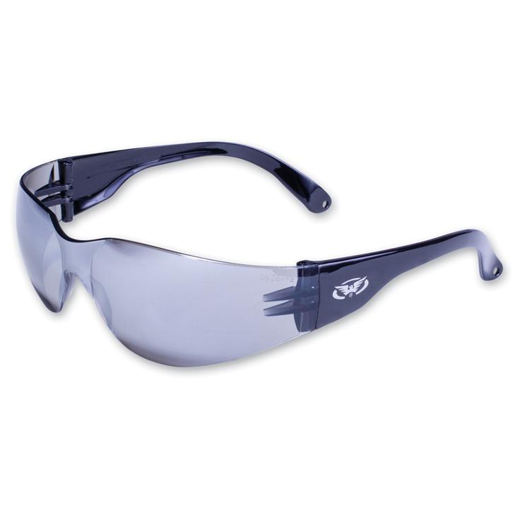 Global Vision Eyewear Rider Sunglasses wtih Flash Mirror Lens