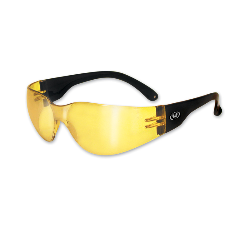 Global Vision Eyewear Rider Sunglasses with Yellow Tint Mirror Lens