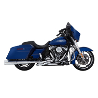 Vance & Hines Hi-Output Exhaust Slip Ons Chrome with Chrome Tips