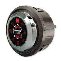Marlin's Quest Compass in FLH Glide Bike Fairing Insert - Satellite Driven