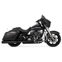Vance & Hines Titan Oversized 450 Slip-Ons, Black with Black End Caps