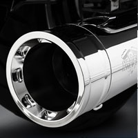 Vance & Hines Destroyer Oversized 450 Slip-Ons, Chrome with Chrome End Caps