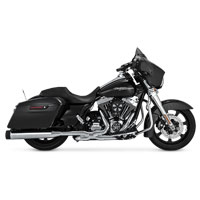 Vance & Hines Titan Oversized 450 Slip-Ons, Chrome with Black End Caps