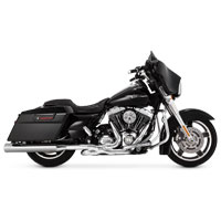 Vance & Hines Eliminator 400 Exhaust Slip Ons Chrome with Chrome End Caps