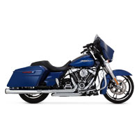 Vance & Hines Eliminator 400 Exhaust Slip Ons Chrome with Black End Caps