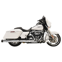 Bassani 4″ Chrome Straight Can DNT Mufflers with Black End Cap