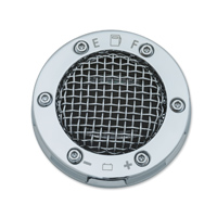Kuryakyn LED Mesh Chrome Fuel and Battery Gauge Gas Cap