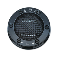 Kuryakyn LED Mesh Black Fuel and Battery Gauge Gas Cap