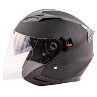 Zox Journey Matte Black Open Face Helmet