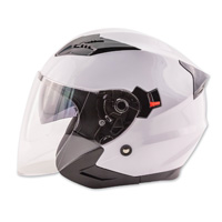 Zox Journey White Open Face Helmet