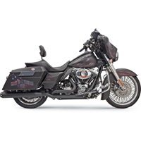 Bassani True-Dual Down Under Headpipes, Black