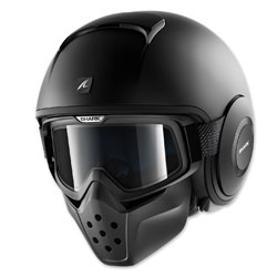 Shark Drak Matte Black Open Face Helmet