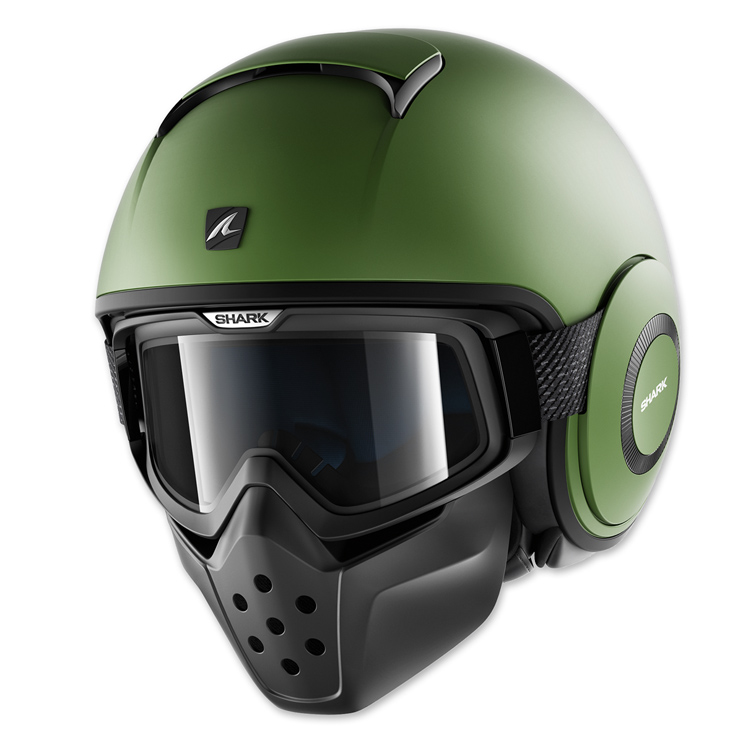 Shark Drak Matte Green Open Face Helmet