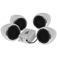 Boss Audio Systems 1000 Watt Bluetooth 3″ Chrome Speaker Kit