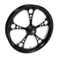 FTD Customs 3 Shot Black Contrast Front Wheel , 21″x3.5″