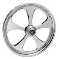 FTD Customs 5 Blade Chrome Front Wheel , 21″x3.5″