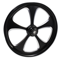 FTD Customs 5 Blade Black Contrast Front Wheel , 21″x3.5″