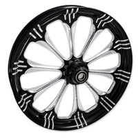 FTD Customs Warlock Black Contrast Front Wheel , 21″x3.5″