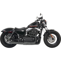 Bassani Road Rage II Mega Power 2-into-1 Exhaust System, Black