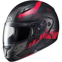 HJC CL-MAX II Friction Black/Red Modular Helmet