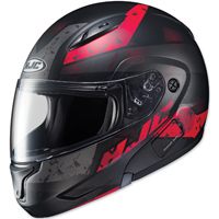 HJC CL-MAX II Friction Black/Red Modular Helmet