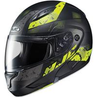 HJC CL-MAX II Friction Black/Hi-Viz Green Modular Helmet