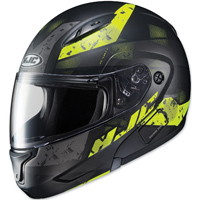 HJC CL-MAX II Friction Black/Hi-Viz Green Modular Helmet