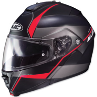 HJC IS-MAX II Mine Black/Red Modular Helmet