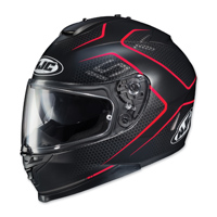 HJC IS-17 Lank Black/Red Full Face Helmet