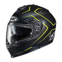 HJC IS-17 Lank Black/Hi-Viz Full Face Helmet