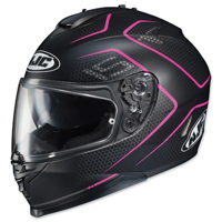 HJC IS-17 Lank Black/Pink Full Face Helmet