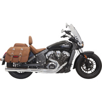 Bassani Chrome Long Road Rage 2-into-1 Exhaust System