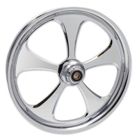 FTD Customs 5 Blade Chrome Front Wheel 16″x3.5″